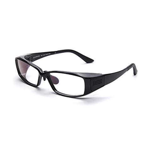 Double Legend 眼镜 メガネ 精油 アロマセラピー リラクス ブルーライトカット35% TR90 超弾性 睡眠促進 おしゃれ メンズ レディース (ブラック)