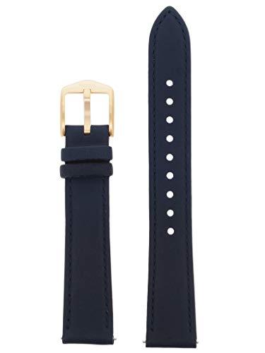 Correa de repuesto original para reloj de pulsera de repuesto LB-ES4338 para Fossil ES-4338, de piel, 16 mm, color azul