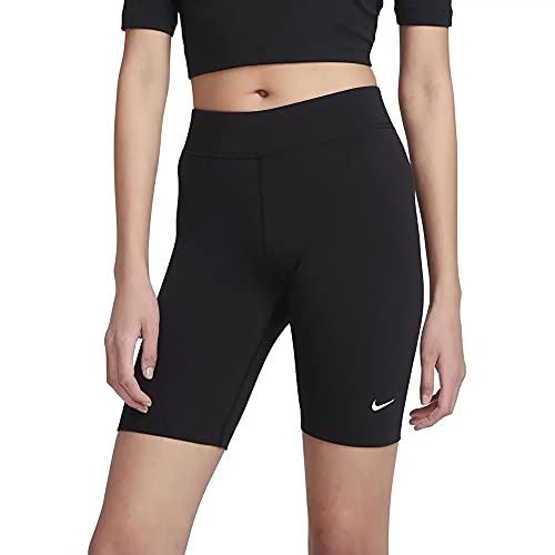 NIKE CZ8526-010 W NSW ESSNTL Bike Short LBR MR Leggings Womens Black/(White) M