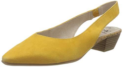 Jana 100% comfort Damen 8-8-29500-24 Slingback Pumps, Gelb (Saffron 627), 39 EU