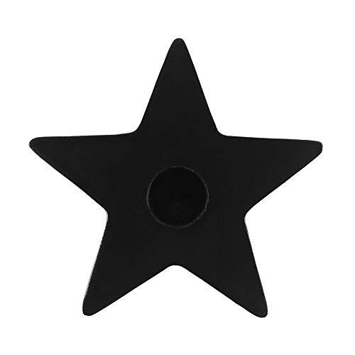 Star Pentagram Design Black Mini Spell Candle Holder