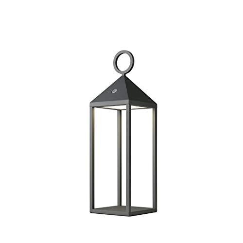 IDC Industr. Design Collection Cargo 78132 - Lámpara led con batería (tamaño pequeño), color gris