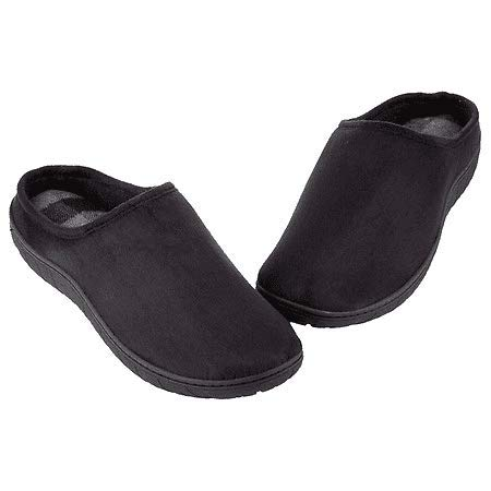 totes Toasties Men's Memory Foam Slippers Black