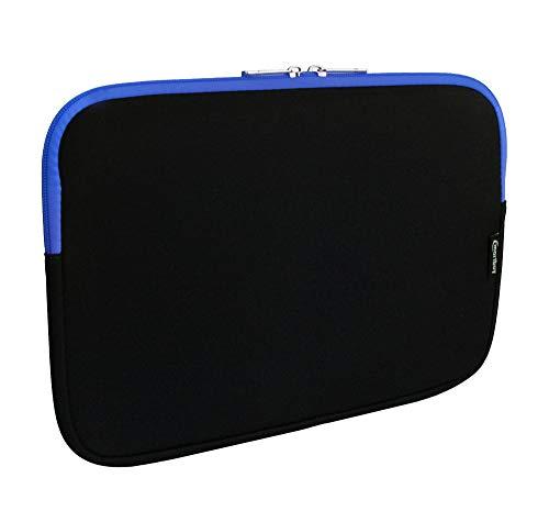 emartbuy Jet Schwarz/Blau Wasserdicht Neopren Soft Zip Case Cover Hülle 11-12.2 Zoll Kompatibel Mit Ausgewählte Geräte Unten Aufgeführt