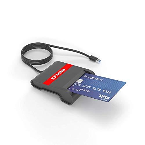 SFDSRO USB Chipkartenleser I EC Kartenlesegerät I SmartCard Reader I Fahrerkarte I Geldkarte I Bankkarte ist HBCI fähig und für Onlinebanking geeignet.
