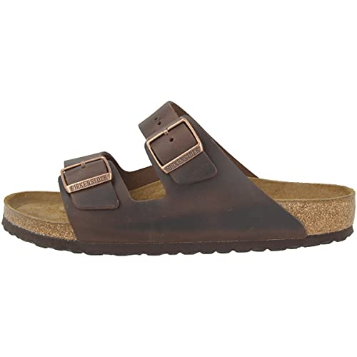 Birkenstock Arizona SFB Leather Mules/Clogs Women Brown - 9.5 - Mules Shoes