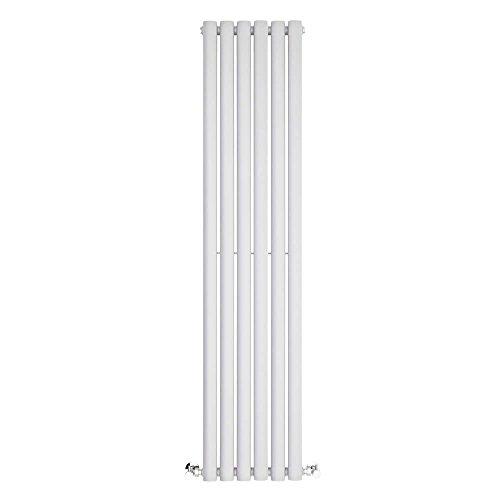 BestBathrooms Design-Heizkörper Vertikal Weiß - 1400 x 354 mm - Premium Paneelheizkörper für Zentralheizung - Doppellagig - Perfekt für Küche, Bad & Wohnzimmer