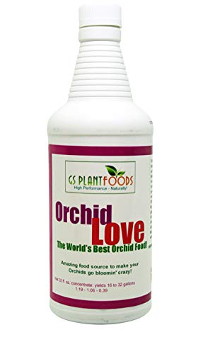 Orchid Love- The World's Greatest Orchid Food!(Net 32 fl oz. concentrate: yields 16 to 32 gallons)