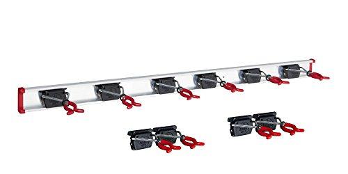Gerätehalter Schiene 100 cm + 10 Halter für Garten Geräte Werkstatt Besen, Bruns