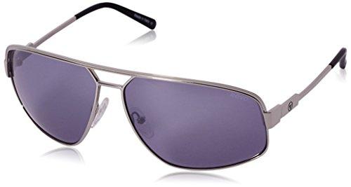 Revo Unisex RB 1002 Bono Collection Stargazer Aviator Polarized Sunglasses, Chrome Frame, Lavender Lens