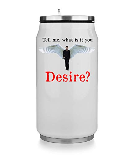 KRISSY Tell Me What is It You Desire? Lucifer Thermobecher Thermal Beverage Can Thermotasse Thermal Tasse Coffee Mug