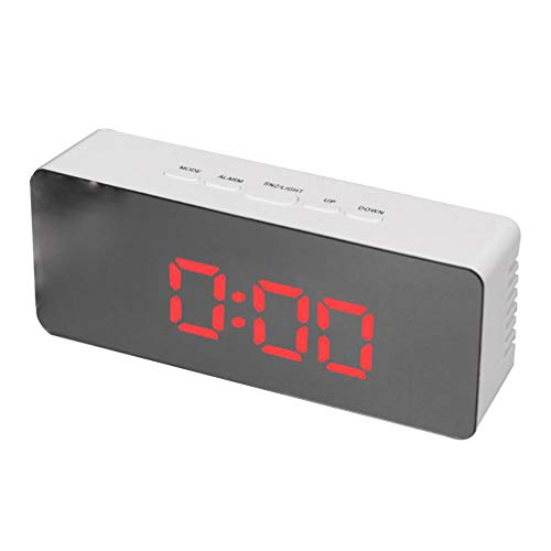 NONE 1 Pcs Puerto de Carga USB Pantalla Led Digital Premium Led Reloj Espejo Reloj Grande Dígitos Espejo Pantalla Despertador para El Hogar Sala de Estar Dormitorios Oficina