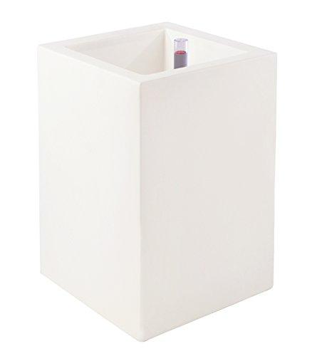 Vondom 41441r – Cube Haut de 40 x 40 x 80 cm, Auto-arrosage, Blanc