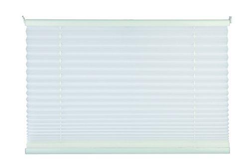 mydeco Plissee weiß ohne Bohren 60 cm breit, verspannt, Jalousie Rollo -Komplettset- mit doppelten Stoff (Wabe), 60x130 cm