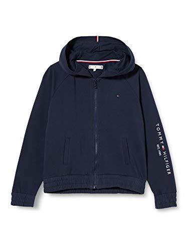 Tommy Hilfiger Damen Essential Zip Through Pullover, Twilight Navy, 8
