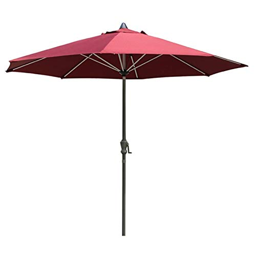 YYQ SHOP Sombrilla Manivela Parasol De Jardín Beach Camping,Protección UV protección Solar Redonda Poliéster-Hierro,245xø270cm Caqui/Beige/Verde Oscuro,Mantener Fresco