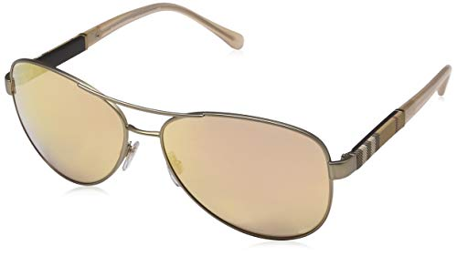 Burberry 0Be3080 12357J 59 Gafas de sol, Dorado (Matte/Brown Rose), Mujer