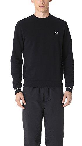 Fred Perry Herren Crew Neck Sweater Pullover, schwarz, X-Groß