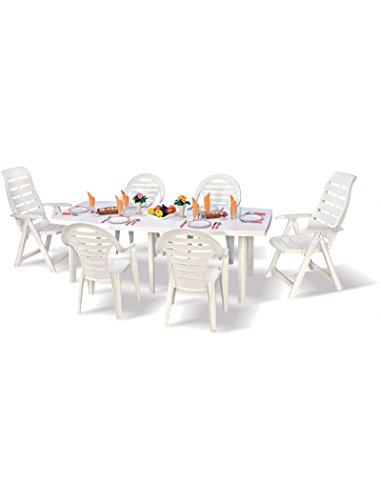 ipae-progarden Table Extensible Blanc – Modèle Trio