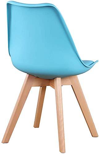 El diseño de la silla tapizada cocina de un restaurante sillas patas de haya maciza,Blue