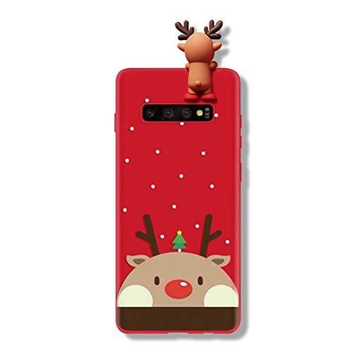 Yoedge Funda para Samsung Galaxy A5 2017, Silicona Cárcasa 3D Doll Toy Muñeca Navidad con Dibujos Antigolpes de Diseño Suave TPU Bumper Case Fundas para Movil Samsung Galaxy A5 2017. (Ciervo 1)