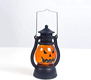Ray punk Gifts Halloween Decoration LED Hanging Jack Pumpkin Lantern Pumpkin Lantern Suitable for Indoor Outdoor Home Terrace and Workbench, Kids Toys, Halloween Out Decoration (Orange Black)