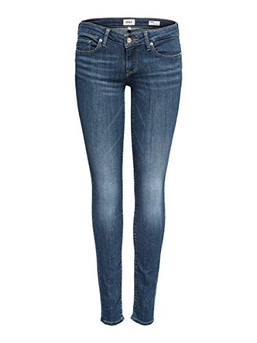 ONLY NOS Damen Slim Jeans onlCORAL SL DNM BB CRE17527 NOOS, Blau (Medium Blue Denim), W29/L30