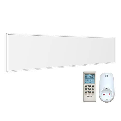 Viesta CF360 120x30cm Infrarotheizung Weiß 360 Watt TH15 Thermostat