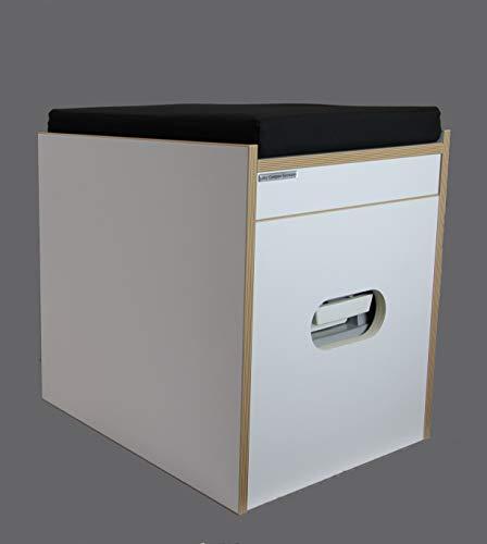 Freizeit Wittke Toiletten Hocker Porta Potti 335 Weiß inkl. Polster schwarz ohne Toilette