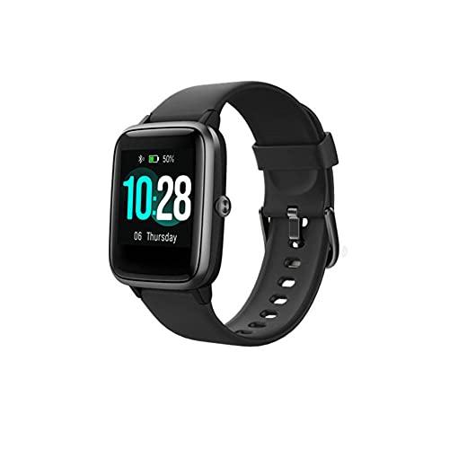 Reloj inteligente Fitness Tracker Relojes Fitness Watch Monitor de ritmo cardíaco con escalones Calorías Sleep Tracker Smartwatch-A