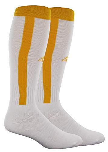 adidas Rivalry béisbol estribo 2-Pack OTC calcetín - 103114, Blanco/Dorado (White/Collegiate Gold)