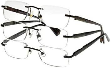 Design Optics by Foster Grant Rimless 3-Pack Reading Glasses +2.00