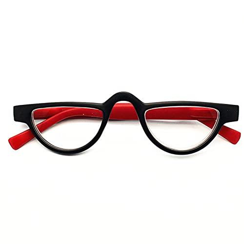JUNZ + 1.0-3.5 Gafas de Lectura Pequeñas con Forma de Ojo de Gato,Lectores RVintage para Hombres y Mujeres,Lentes de Resina de Alta DefinicióN,Tortuga
