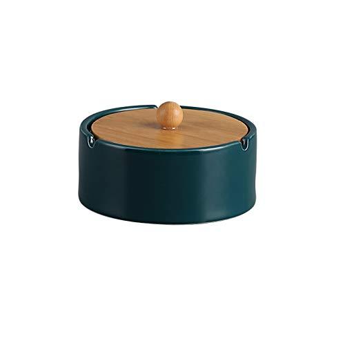 Cenicero Cenicero de cerámica Personalidad de la casa de la casa creativa de la sala de estar de la oficina con ceniza con cubierta adecuada para varios estilos de cenicero Cenicero al aire libre