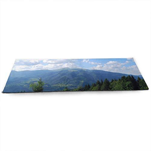 Tapis de yoga NA Mountains Carpates pour campagne, avec...