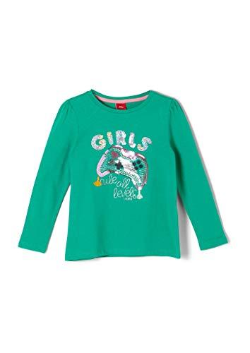 s.Oliver Junior Mädchen 403.10.008.12.130.2041139 T-Shirt, 7356, 104/110 /REG