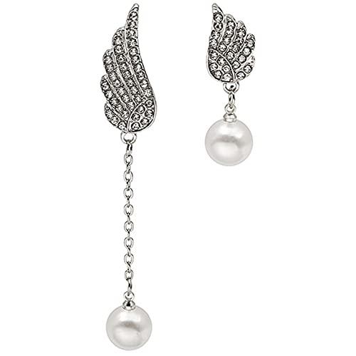 YLXAJKJGS-XCH Pendientes Femeninos de Lujo asimétrico con ala en ángulo, Pendientes de Gota de Metal, declaración de Moda, Pendiente Colgante, joyería de Tendencia