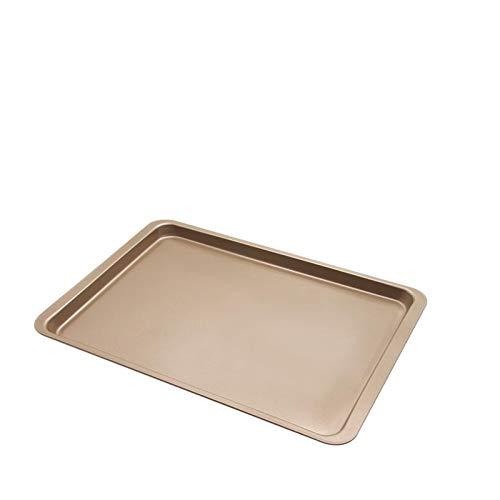 14.5 pulgadas bandeja de hornear molde rectangular antiadherente molde de acero al carbono molde para hornear herramientas para hornear para hornear para horno de tortas (Color : Golden)