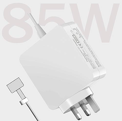 Mac Book Pro Charger 85W, 85W Power Supply Mac Book Adapter Laptop Connection T-Tip Compatible with Mac Book Pro 17/15/13 Inch (Made After Mid 2012), Updated Version Mac Book charger