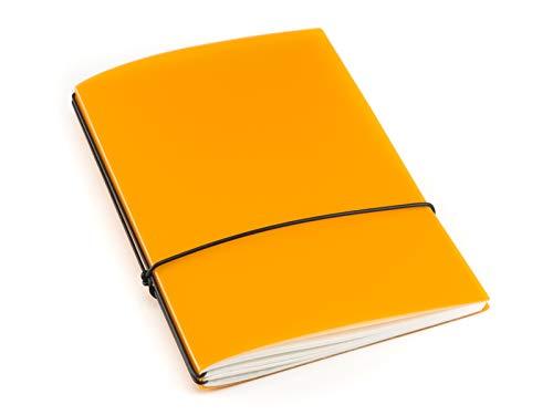 A7, revolutionäres X17-Notizbuch/Personal Organizer! aus robustem Polypropylen Material, mandarine transluzent; Inhalt: 2 Notizhefte (blanko, liniert); austauschbar=nachhaltig!