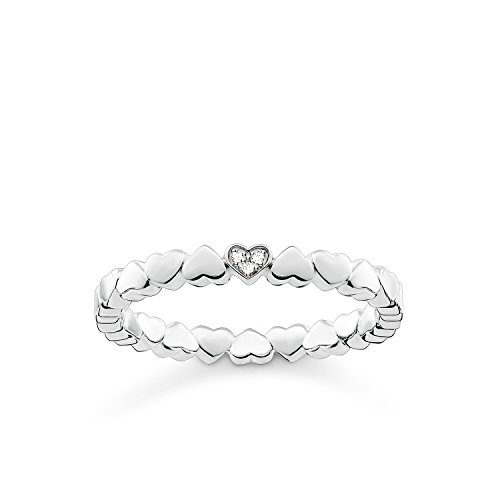 THOMAS SABO Damen Ring Herzen 925er Sterlingsilber D_TR0013-725-14