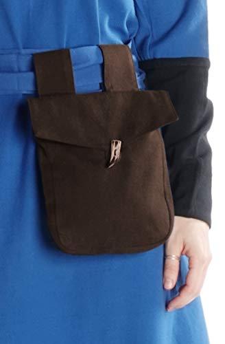 HEMAD Mittelalter Tasche Widia aus Baumwolle Braun Gewandung LARP
