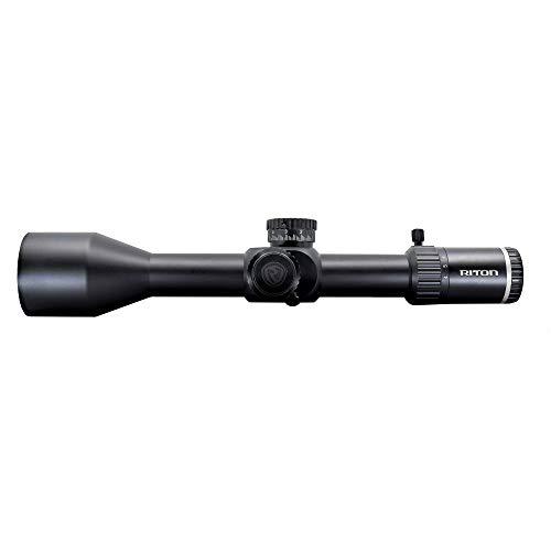 Riton Optics X7 Conquer 4-32x56, tubo de 34 mm, torretas avanzadas de cero parada, primer plano focal y retícula de precisión iluminada con promesa de vida ilimitada.