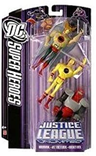 JLA DC Super Heroes: Justice League Unlimited > Hawkman, Reverse Flash and Rocket Red Action Figure Multi-Pack