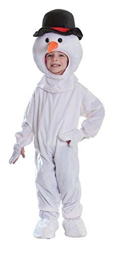 Bristol Novelty Costume de Bonhomme de Neige en Peluche, Medium, Approx Age 5-7 Years, CC251, Multicolore