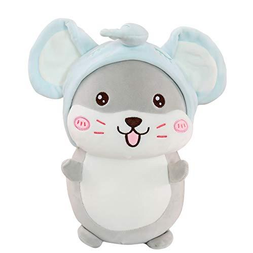 Pluche Muis Knuffel Dieren Pop, Gevulde Cosplay Anime Kussen, Babyslaap Pop, Kerstcadeau Voor Kinderen Kinderen 50Cm (Blauw)