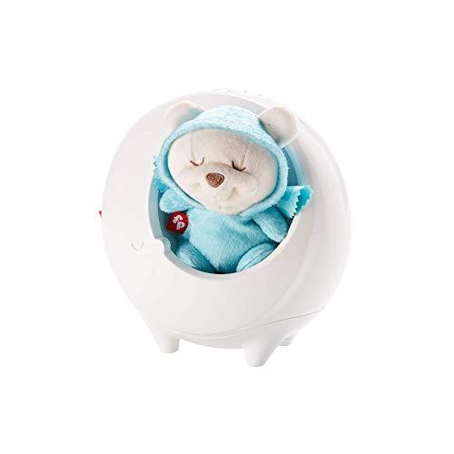 Fisher-Price DYW48 - 2 in 1 Traumbärchen Schlummeruhr Spieluhr, Nachtlicht mit Farbwechsel Sternenlicht sanfte Musik und White Noise, Babyausstattung ab Geburt