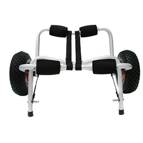 Remolque de Kayak de Aluminio Soporte de Kayak de Aluminio Remolque Plegable portátil Rueda Inflable Carro de Kayak (Negro)