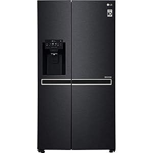 LG GSL761MCXV American Fridge Freezer in Black Steel
