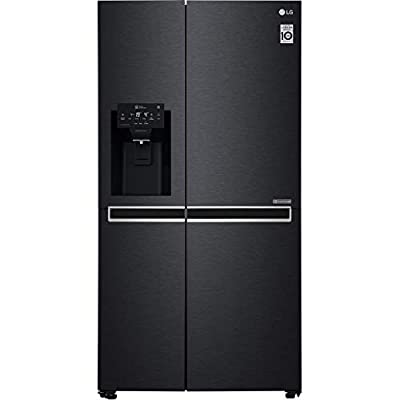 LG GSL761MCXV American Fridge Freezer in Black Steel